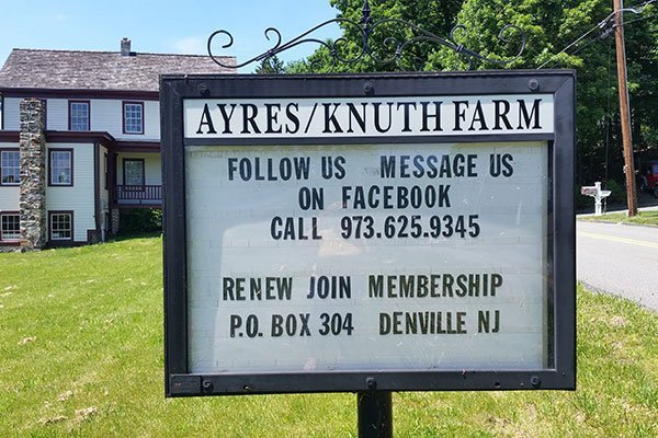 Events Sign at the Ayres/Knuth Farm