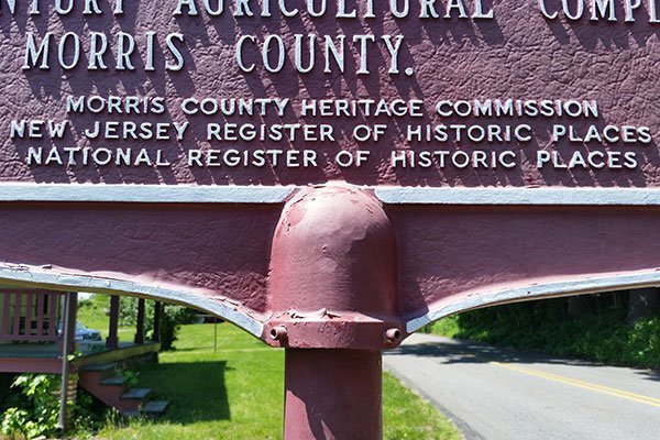 Historic Places sign at the Ayres/Knuth Farm