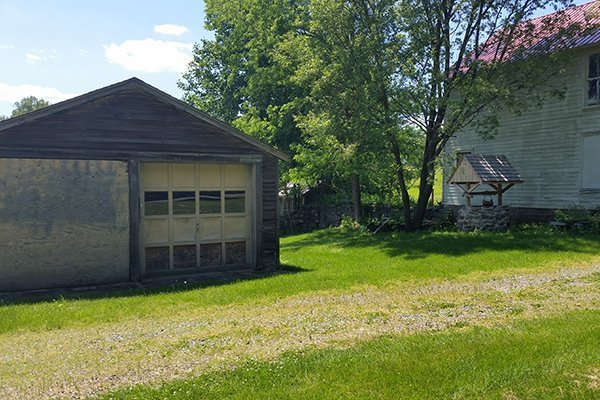 Garage, Well and Tenant House at the Ayres/Knuth Farm