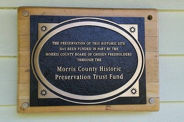 Plaque for the Morris County Historic Preservation Trust Fund