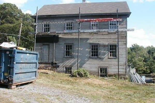 Exterior work being done on the Tenant House at the Ayres/Knuth Farm