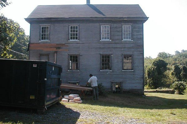 Work being done on the Tenant House at the Ayres/Knuth Farm