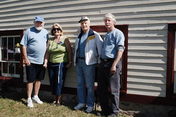 Randy Johnson, Sue Schmidt, Andres and Andy Knuth at the Ayres/Knuth Farm