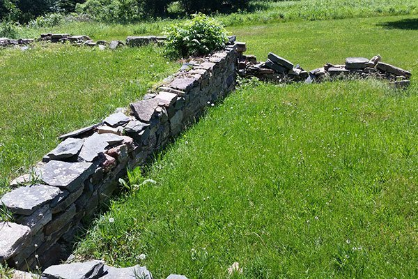 Foundations at the Ayres/Knuth Farm